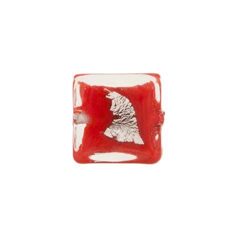 P Square Tosca tosca murano glass bead opaque silver foil accents