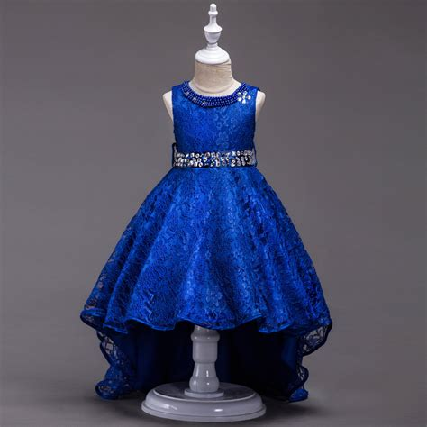 dress design royal blue children gown designs 3 pearl necklace royal blue flower