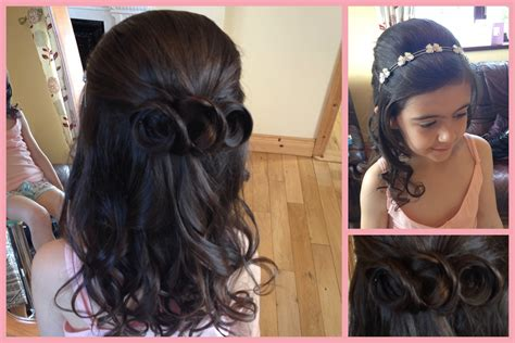 down hairstyles for communion holy communion and confirmation hair by salon 2 sligo