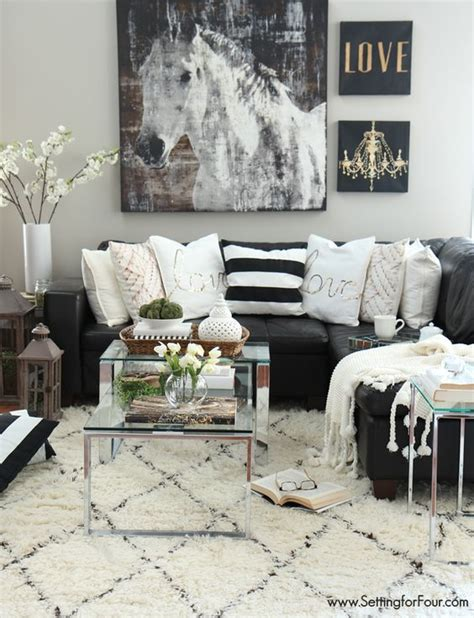 48 Black And White Living Room Ideas Decoholic Black And White Living Room Decorating Ideas