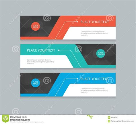 design banner horizontal flat vector set abstract corporate business horizontal