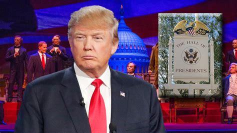 donald trump hall of presidents trump set to join walt disney world s hall of presidents