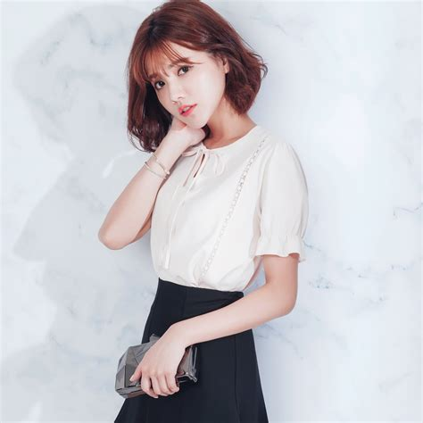 Blouse Korea Jerapa mayuki womens crochet panel tie neck blouse japanese korean fashion ebay