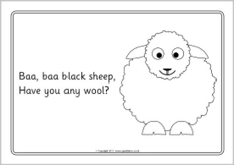 coloring page baa baa black sheep baa baa black sheep colouring sheets