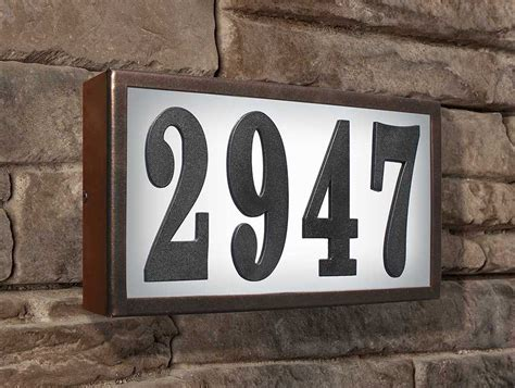 light up address plaque low voltage lighted address plaque do it yourself numbers