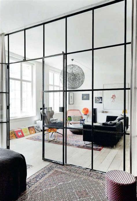 Ordinaire Les Chambre A Coucher #2: cloison-en-verre-intérieur-boho-chic-avec-cloison-vitrée.jpg