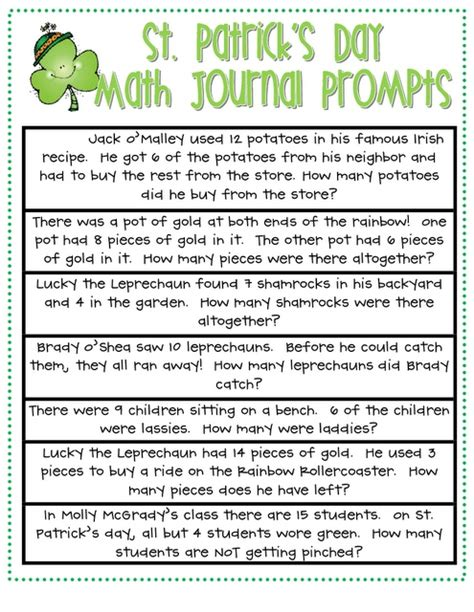 printable math journal prompts for first grade free printable kindergarten math journals math