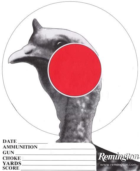 remington printable turkey targets targets