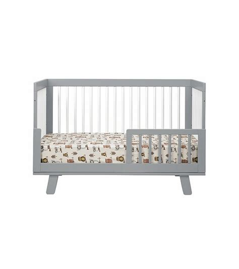 Hudson 3 In 1 Convertible Crib Babyletto Hudson 3 In 1 Convertible Crib With Toddler Bed Conversion Kit Grey White