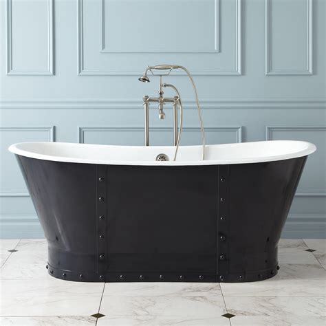 bathtubs cast iron 52 quot winton cast iron skirted slipper tub no overflow