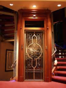 Homes With Elevators by Home Elevator With Etched Door Home Elevator