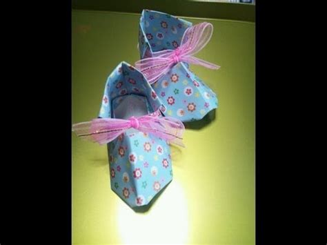 Origami Baby Booties - 折り紙 ベビーシューズ 折り方 origami baby shoes playithub largest