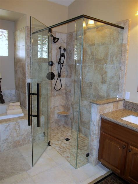 bathroom with glass doors glass shower doors phoenix az frameless shower doors tub
