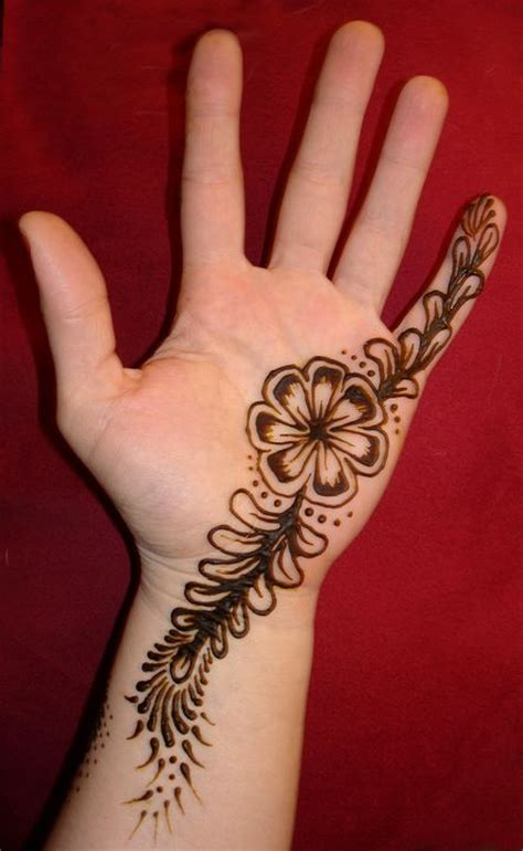 henna tattoo inner hand simple inside of the flower pretty pictures for my