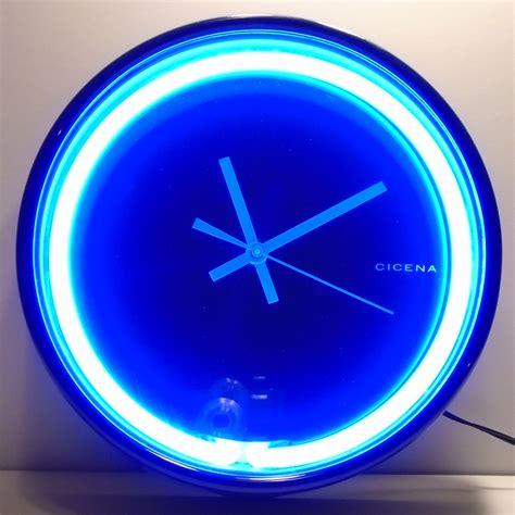 cicena diana blue neon wall clock kkcollectibles