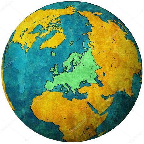 europe globe map europe territory on globe map stock photo 169 michal812