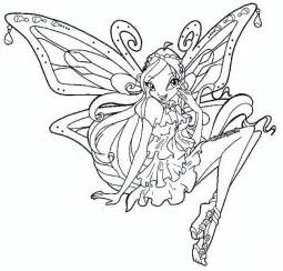 kids 7 winx club coloring pages