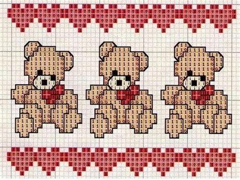 lenzuola per da ricamare punto croce punto croce raccolta orsetti da ricamare mamma e casalinga