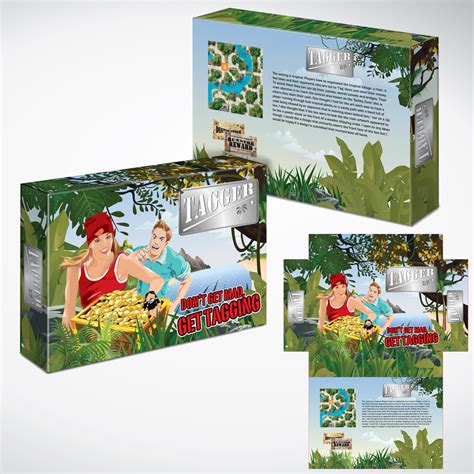 game box layout playful modern games packaging design for a company by
