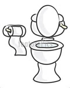 Funny Toilet Paper Holder White Toilet Illustration