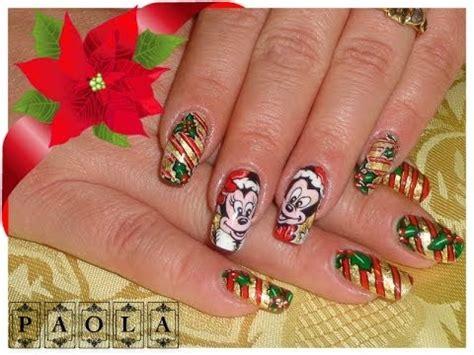 tutorial nail art minnie minnie nail art natale tutorial by krystal youtube