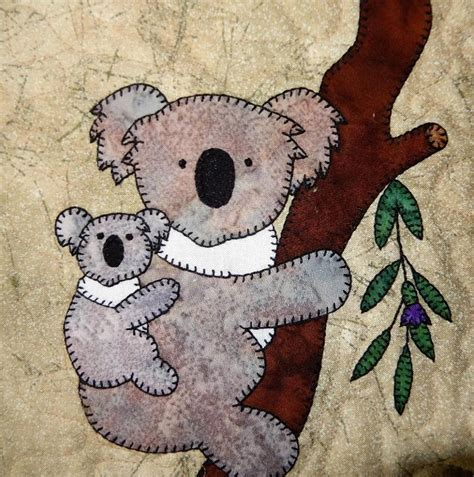 quilting applique patterns koala and baby applique quilt block craftsy