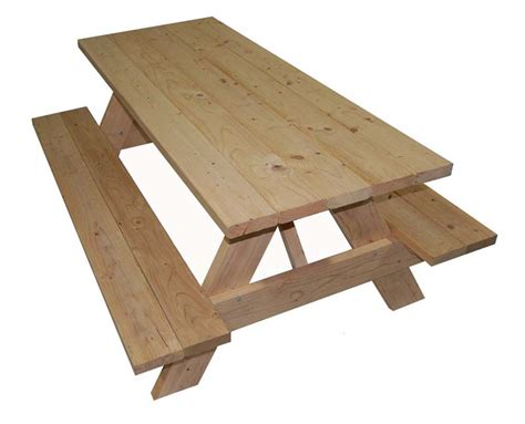 wooden picnic tables with separate benches wooden picnic table
