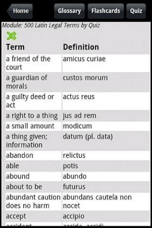 download 500 latin legal terms by quiz for android appszoom