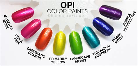 opi color paints review swatches nail
