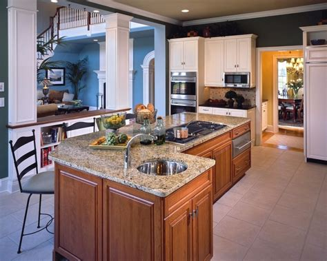L Shaped Kitchen Island With Sink L Shaped Kitchen Island Layout With