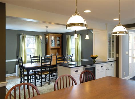 traditional kitchen dining room remodel remove wall