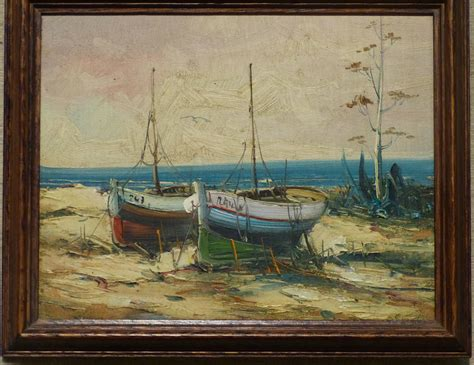 sailing boat auctions uk a small marine oil on canvas depicting moored sailing