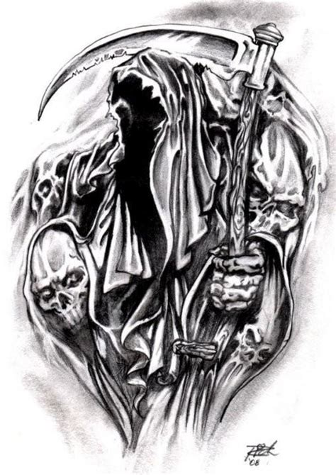 grim reaper tattoo design the grim reaper drawing