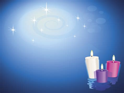 Lit Christian Candles Backgrounds Religious Templates Spiritual Powerpoint Templates