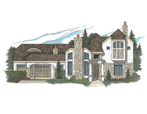 Tile Roof House Plans by Contemporary With Stucco And Tile Roof 12517rs