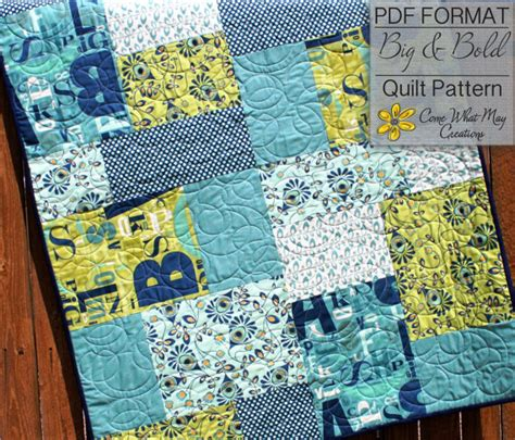 Quarter Baby Quilt Patterns Free by Baby Quilt Pattern Quarter Quilt Pattern Big Bold Baby