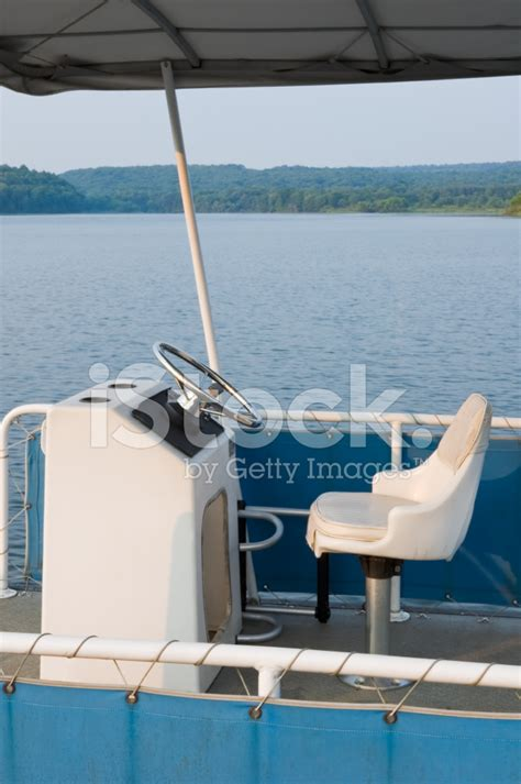 pontoon boat seat care captain s chair pontoon boat driver s seat stock photos