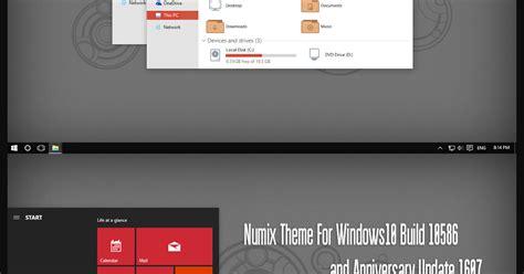 numix theme for windows 10 numix theme windows 10 anniversary update 1607 windows10