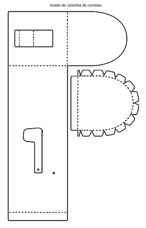 Caixa de correio de papel com moldes - Pop Lembrancinhas