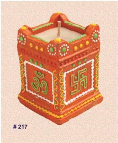 Handmade Diya Decoration - buy handmade earthen tulsi diya decorated with vibrant