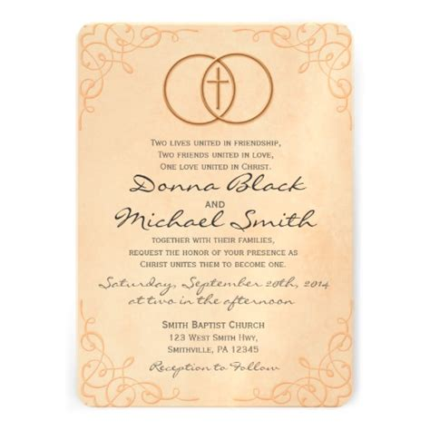encircled cross religious wedding invitations 5 quot x 7