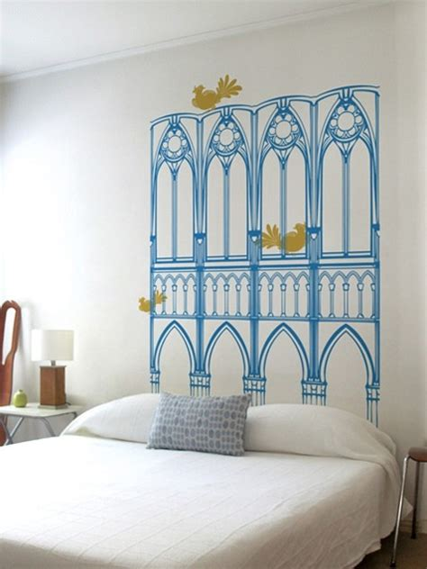 wall decal headboard ideas 20 versions of headboards that you can totally diy world
