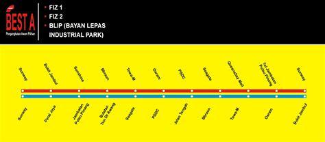 best route map bayan baru
