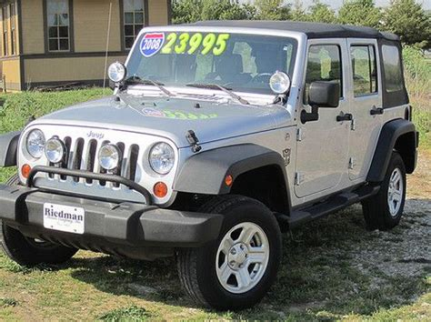 Jeep Sport 4 Door Purchase Used 2008 Jeep Wrangler Unlimited X Sport Utility