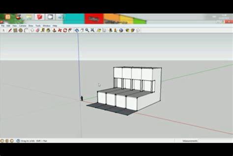 tutorial menggunakan google sketchup cara membuat ruko minimalis menggunakan google sketchup 8