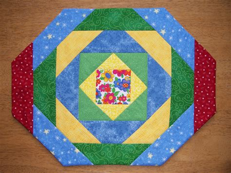 Patchwork Placemat Patterns - placemats quilted in pineapple pattern set of 4