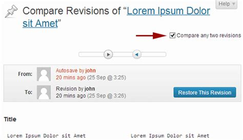 wordpress revisions tutorial how to undo wordpress changes post revisions 3 visualmodo