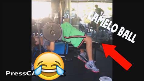 lamelo ball hilarious bench press youtube
