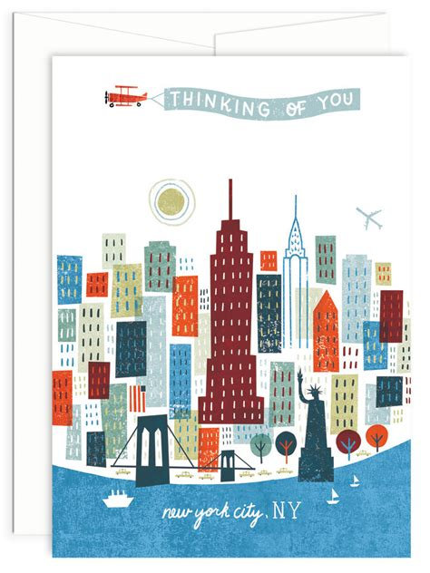 Where Can I Buy Michaels Gift Cards - colorful city collection new york city 5x7 greeting card by michael mullan wild apple