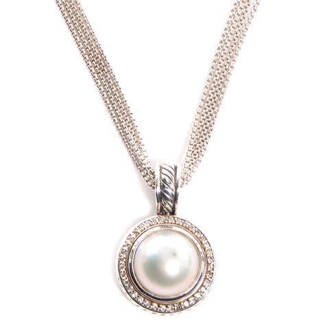 david yurman sterling silver pave freshwater pearl